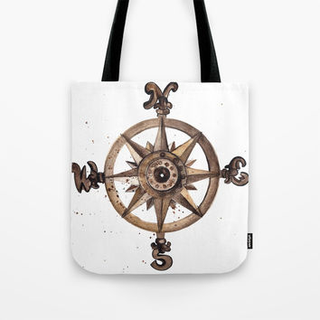 Wheel - Compass Tote Bag by MIKART