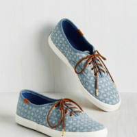 How the Southwest was Fun Sneaker in Dots   Mod Retro Vintage Flats   ModCloth.com