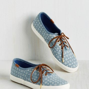 How the Southwest was Fun Sneaker in Dots | Mod Retro Vintage Flats | ModCloth.com