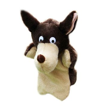 New Wolf Hand Puppet Baby Kids Bedtime Story Tool Child Soft Doll Parent-child Toy Gift