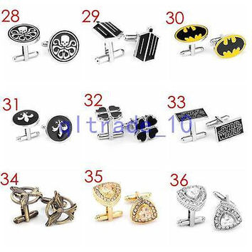 MIX Lot Vintage 100  SETS Men Wedding Party Cufflinks Novelty Stainless Steel