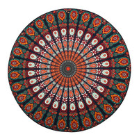 Vintage Style Indian Round Beach Towels Mandala Throw Tapestry Hippy Boho Gypsys Peacock Tablecloth Adults Beach Towel Circle