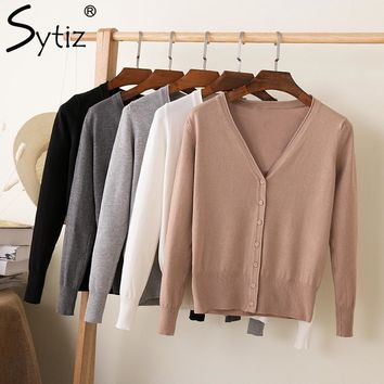 Knitted Multi-Color Sweater Women Long Sleeve