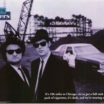 Blues Brothers Movie Quote Poster 24x36