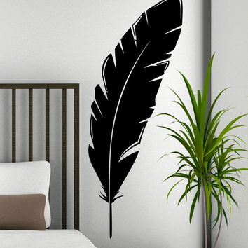 Vinyl Wall Decal Sticker Feather #5472