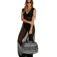 Promo-black Sitting Pretty Poolside Cover Up