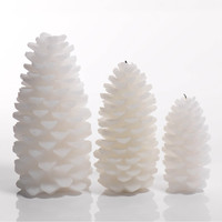 Rainier Pine Cone Candle - Set of Four