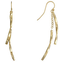 WOMENS ITALY SOLID 14KT YELLOW GOLD 2.2GRAM FISH HOOK DANGLE EARRINGS