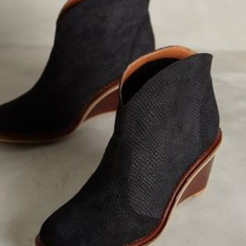 Schuler & Sons Abaco Textured Booties by Anthropologie Black