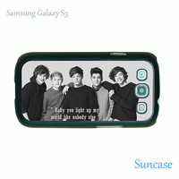 Samsung Galaxy S3 case --1D One direction style,plastic case side in black or white
