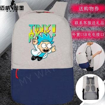 Student Backpack Children Rick and Morty backpack Student School Bags Men women's shoulder travel Laptop Bags Teenage Girl Backpacks Mochila AT_49_3