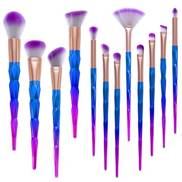 12pcs Unicorn Makeup Brush Set