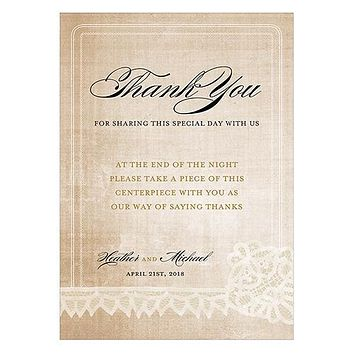 Vintage Lace Table Sign Berry (Pack of 1)