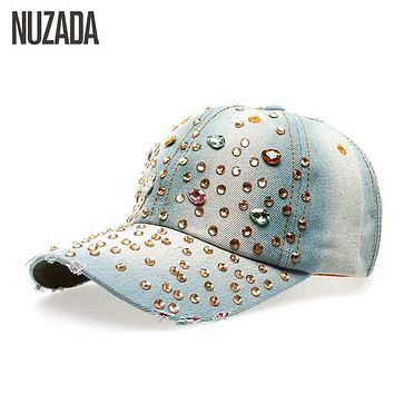 brands women girls ladies baseball cap wavy pattern womens hats with bling caps