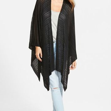 Echo Pointelle Knit Cape | Nordstrom