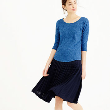 Indigo vintage cotton three-quarter sleeve dolman tee