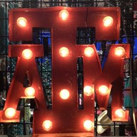 Lighted Rustic A&M Handmade Sign