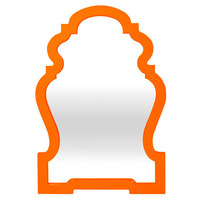 Jonathan Adler Orange Queen Anne Mirror