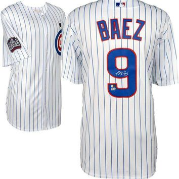 ONETOW Javier Baez Signed Autographed Chicago Cubs Baseball Jersey (MLB Authenticated)