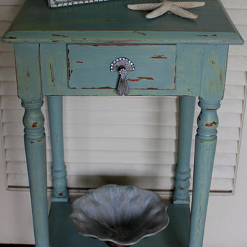Vintage Shabby Chic Drawer/Nightstand Table 1940s