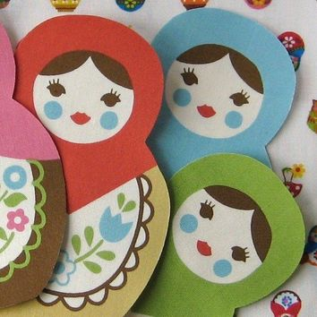 Matryoshka Iron On Applique Patch by lilredbuttonboutique on Etsy