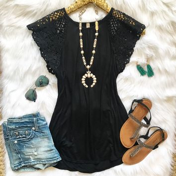 Lacey Black Top