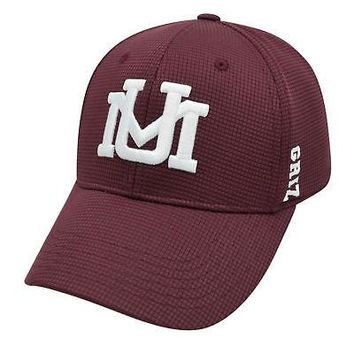 Licensed Montana Grizzlies Official NCAA One Fit Booster Plus Hat Cap by Top of the World KO_19_1