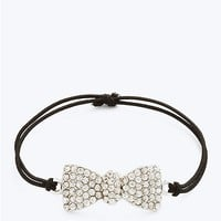 Rhinestone Bow Stretch Bracelet