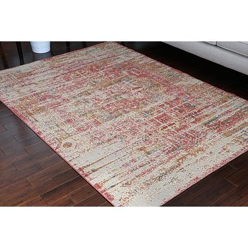 8702 Red Rustic Oriental Area Rugs