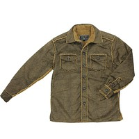 Pebble Sueded Button Jacket in Vintage Brown by True Grit - FINAL SALE