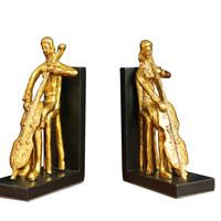 Golden Cello Player  Bookends