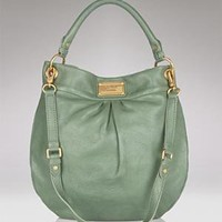 MARC BY MARC JACOBS Classic Q Hillier Leather Hobo - New Arrivals - Bloomingdales.com