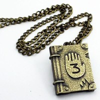 1 PC  Cool Gravity Falls Journal Number 3 pendant Necklace Cosplay Costume Gravity Falls jewelry