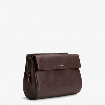 Matt and Nat Blinkin Crossbody/Shoulder Bag in Cocoa Vegan Leather