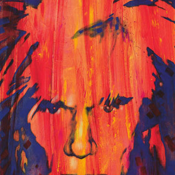 Andy Warhol Portrait Stephen Fishwick Art Poster 24x36