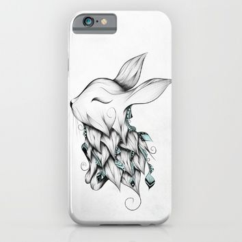 Poetic Rabbit iPhone & iPod Case by LouJah | Society6