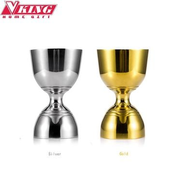 Gold/Silver Stainless Steel Cocktail Jigger 30ml/60ml Bar Jigger Bell Jigger Measuring Liquor Shot Cup Drink Mixer Measurer