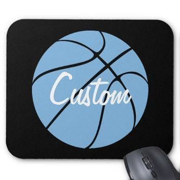 Carolina Blue Custom Basketball Mousepad