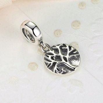 100% 925 Sterling Silver Luxury Tree of Life Charm for Pandora Bracelet