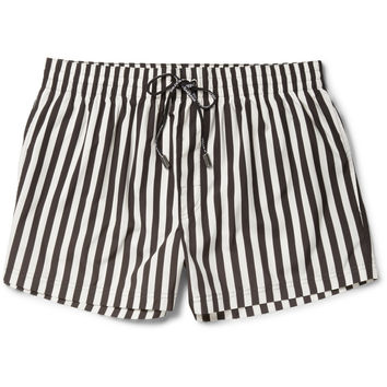 Dolce & Gabbana - Short-Length Striped Swim Shorts | MR PORTER