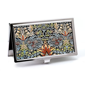 William Morris Snakeshead Floral Business Card Case