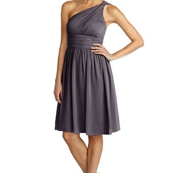 Women's Donna Morgan 'Rhea' One-Shoulder Ruched Chiffon Dress,