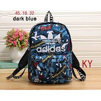 ADIDAS 2018 new men and women wild fashion high quality backpack F-KR-PJ dark blue