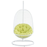 Encounter Swing Lounge Chair in White