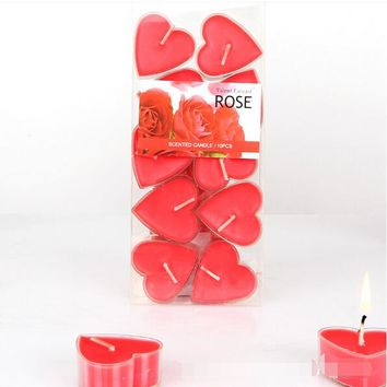 10,4x2cm Heart Shaped/Red/Purple/Blue, Soy Wax Candles,Tea lights