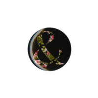Of Mice Men Floral Ampersand Pin