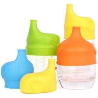 1 PC Silicone Sippy Lids for Baby Drinking Converts Any Glass to a Sippy Makes Drinks Spillproof, Reusable, Durable