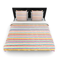 "Nika Martinez ""Summer Stripes"" Abstract Woven Duvet Cover"