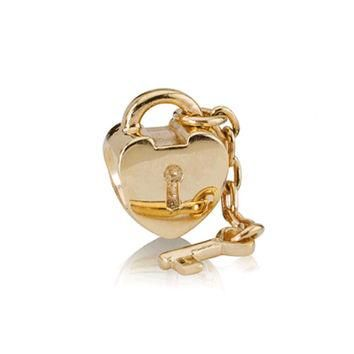 PANDORA Gold Key to My Heart Charm