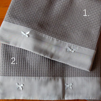 "Baby bow blanket , grey colour, excelent quality cotton 100% blanket 33""x43"" (0,85x 1,20 cm)"